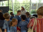 Wilson County Beekeeper Peggy Scholes talks with Wilson County 2nd Graders ... Future Beekeepers