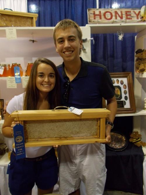 1st Place winning frame of light honey.